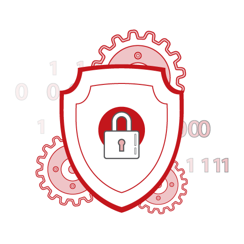 M-Secure Cybersecurity shield logo