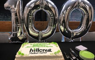 100th Resona 7 cake and balloons