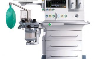 anesthesia machine with gas monitor